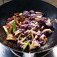 干煸紫花菜的做法图解9