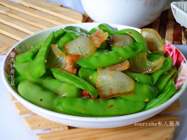 开胃香辣的腊肉炒荷兰豆的做法