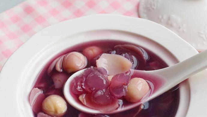 美容养颜甜汤(百合皂角米紫薯糖水)