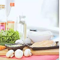 健康便当14(香煎豆腐+鸡胸肉生菜沙拉)的做法图解1