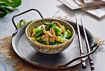 青菜炒平菇的做法