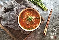 金针菇酸汤肥牛卷的做法