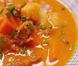 暖心番茄牛腩的做法