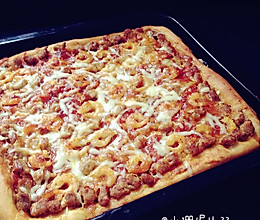 北极虾牛肉粒披萨的做法