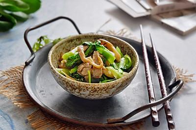 青菜炒平菇
