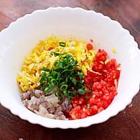 番茄虾仁鸡蛋水晶蒸饺#资深营养师#的做法图解4
