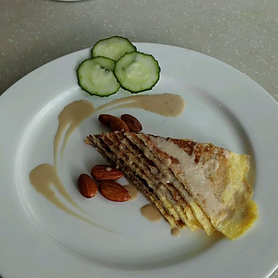 【皇后的早餐】全麦煎蛋饼+胡辣汤~中式早餐+西式摆盘