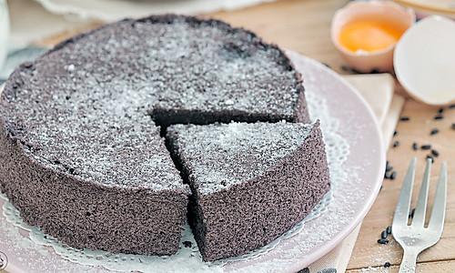黑米蒸蛋糕的做法
