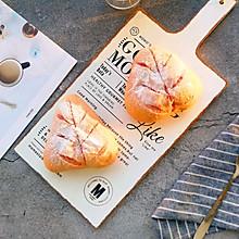 #美味烤箱菜,就等你来做!#会拉丝的-火龙果麻薯蛋黄肉松软欧