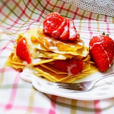 快手早餐~草莓可丽饼