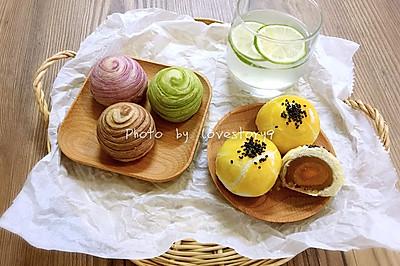 莲蓉蛋黄酥&杂花酥(黄油版)