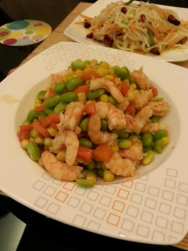 青豆玉米虾仁的做法