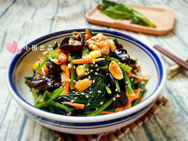 八宝菠菜的做法