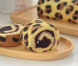超高颜值柔软好吃的性感豹纹紫薯蛋糕卷的做法