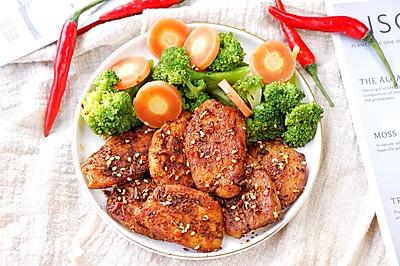 香煎孜然鸡胸肉