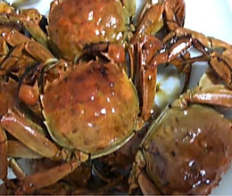 酱油焖河蟹的做法