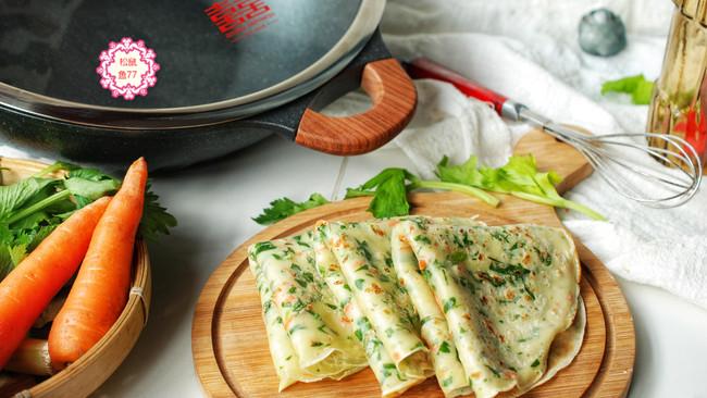 芹菜叶早餐饼的做法