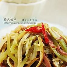 橄榄油培根豆干蚝油笋丝