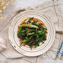 快手家常之豆豉鲮鱼油麦菜#餐桌上的春日限定#