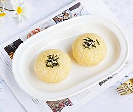 蛋黄肉丝芝士饭团的做法