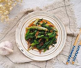 快手家常之豆豉鲮鱼油麦菜#餐桌上的春日限定#的做法