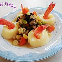五彩缤纷玉脂虾#金龙鱼外婆乡小榨菜籽油#