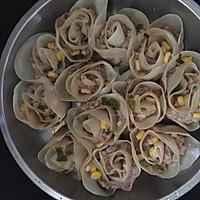 玫瑰花卷饺子的做法图解8