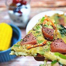15分钟打造ins风减脂早餐(鸡蛋披萨、酸奶杯、玉米)