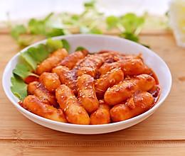 #快手又营养,我家的冬日必备菜品#辣炒芝士年糕的做法