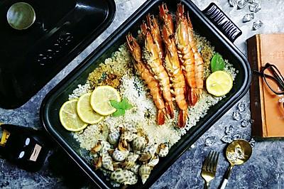 盐焗花螺大虾