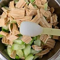 腐竹花生米拌黄瓜的做法图解8