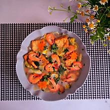 减脂低卡~鲜虾豆腐白菜汤