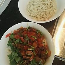 西红柿茄子拌面