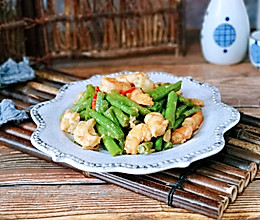 #父亲节,给老爸做道菜#虾仁炒豇豆的做法