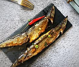 #秋天怎么吃#秋日里的烧烤,香辣煎烤秋刀鱼的做法