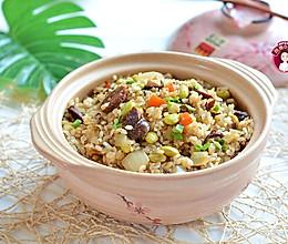 #一道菜表白豆果美食#腊肠香菇糯米饭的做法
