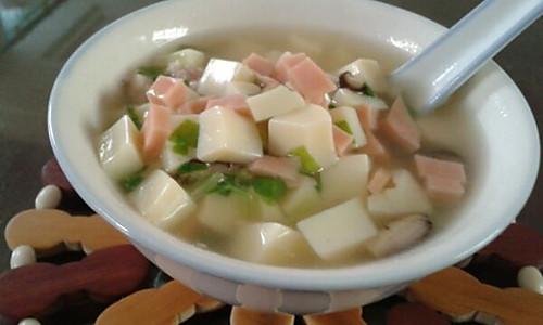 五彩豆腐汤的做法