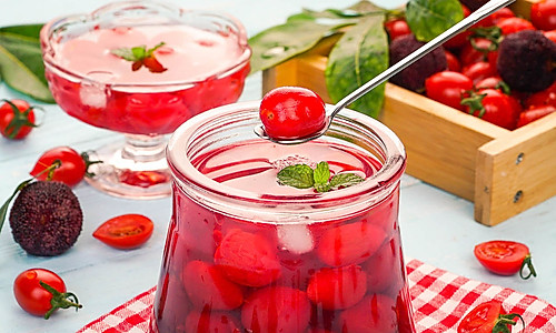 开胃杨梅渍番茄的做法