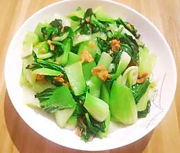 猪油渣炒青菜的做法