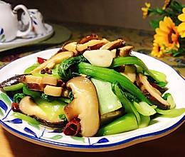 超简单的香菇青菜的做法