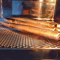 快手菜—烤箱版—孜然秋刀鱼的做法图解9