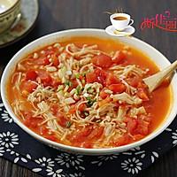 番茄炒金针菇的做法图解8
