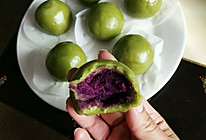青汁紫薯团子的做法