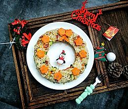 #今天吃什么#圣诞节,蛋炒饭也来凑热闹~炒饭花环的做法
