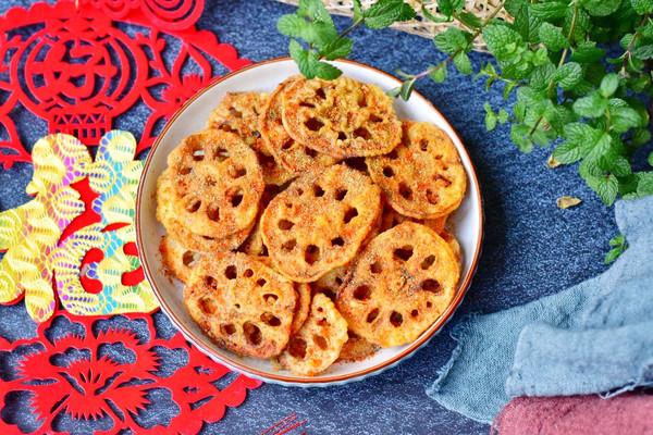 香辣酥脆炸藕片的做法