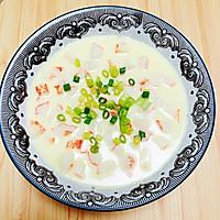 #晒出你的团圆大餐# 豆浆蟹柳蒸水蛋(经典家常粤菜)的做法图解12