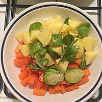 米兰香肠煎蔬菜的做法图解1