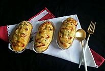葱香培根芝士面包的做法