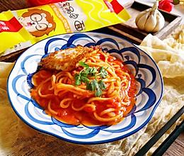 #豆果10周年生日快乐#番茄鳕鱼面的做法