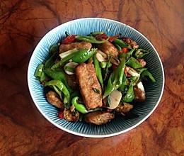 青椒炒草鱼块的做法